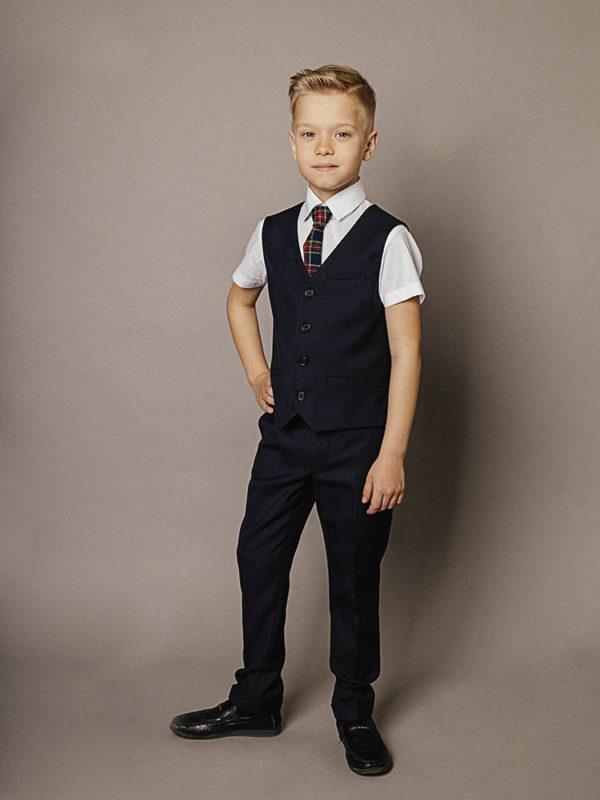 брюки для мальчика синие