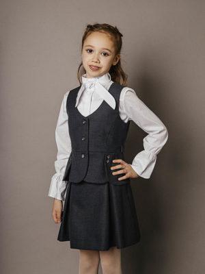 жилетка с юбкой для школы