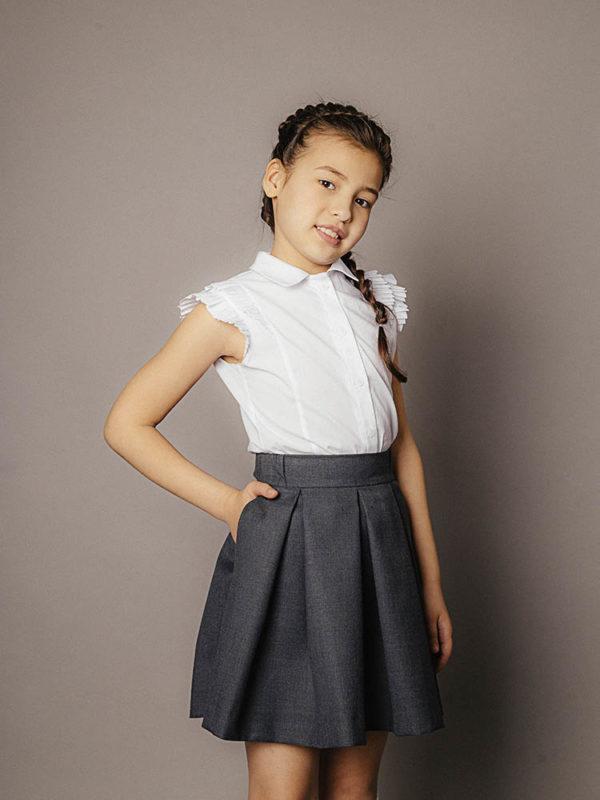 школьная юбка графит