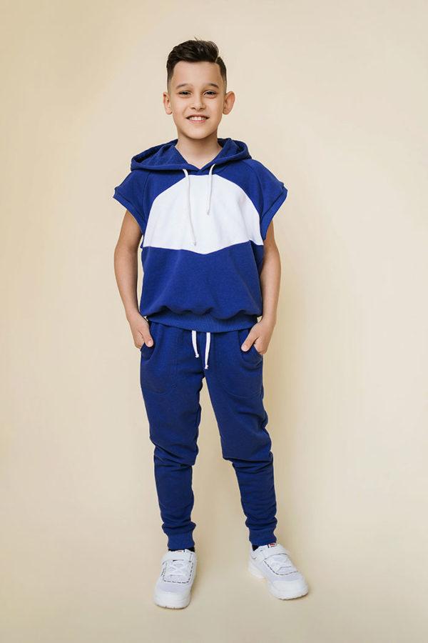 синий костюм для спорта детям