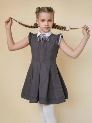 платье из хлопка для школы