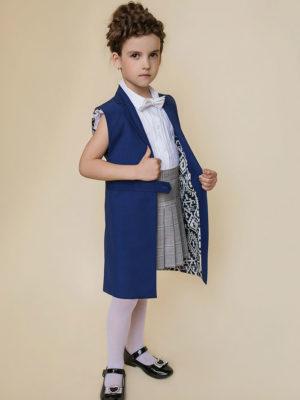 синий кардиган для школы