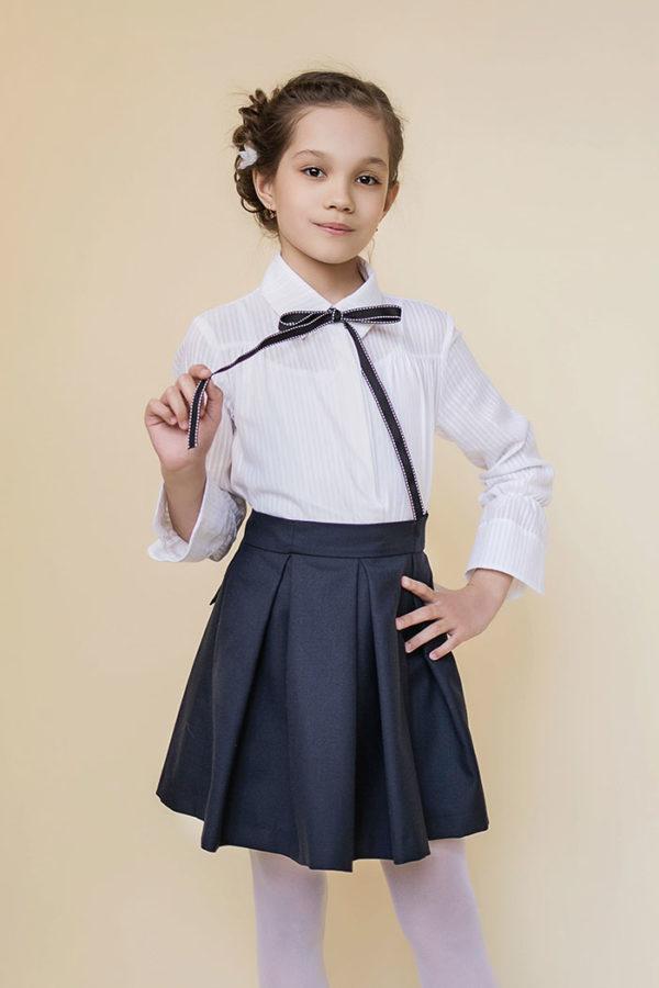 юбка из костюмной ткани в школу