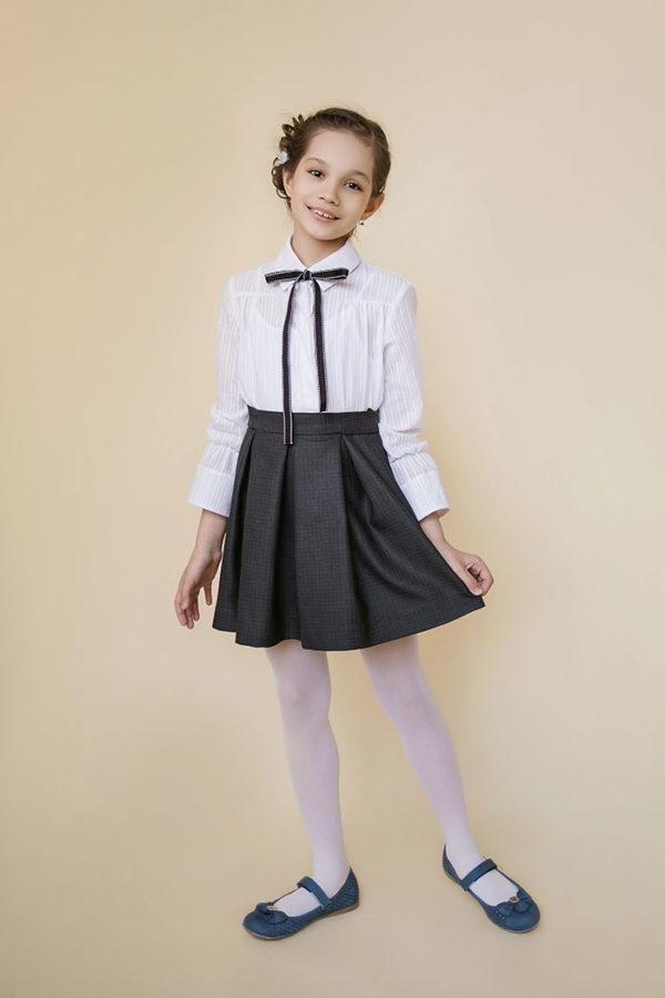 детская юбка из костюмной ткани