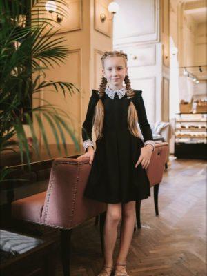 черное платье дюймовочка