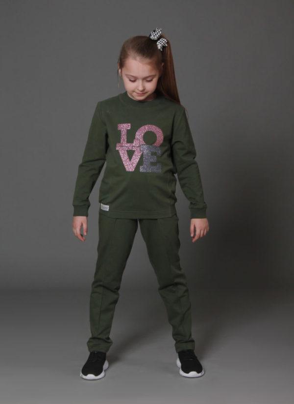 костюм из трикотажа для девочки