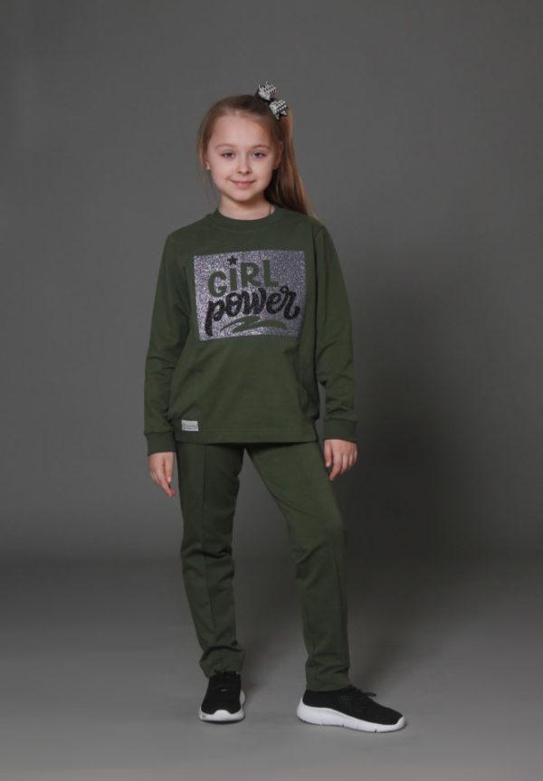 зеленый костюм девочке