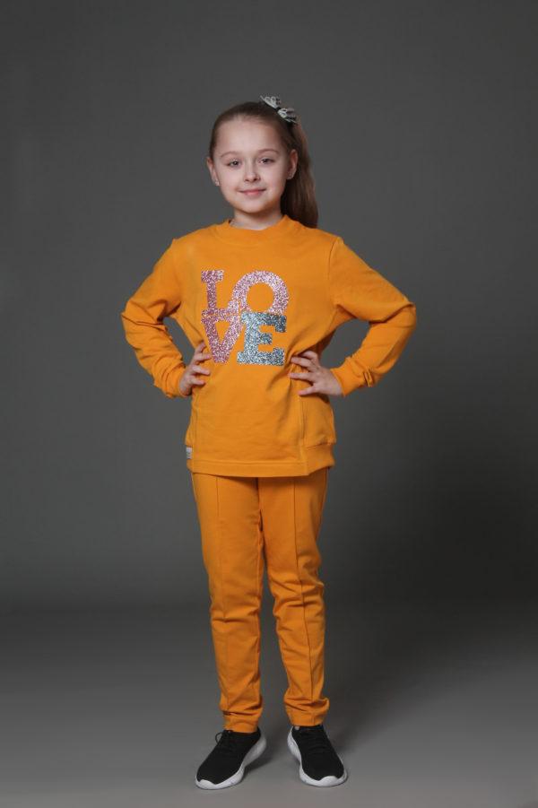 желтый детский костюм